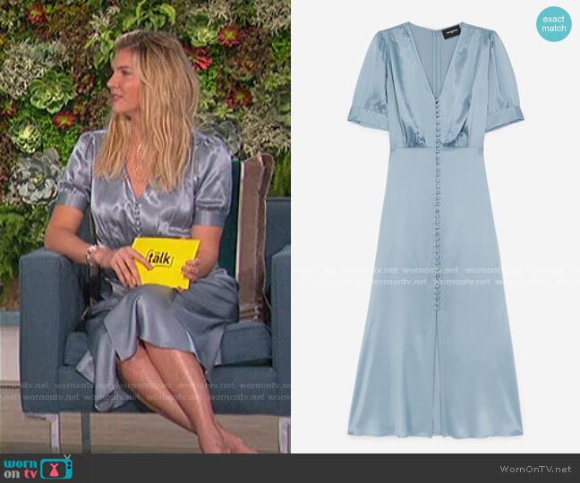 Long Sky Blue Dress by The Kooples worn by Amanda Kloots  on The Talk