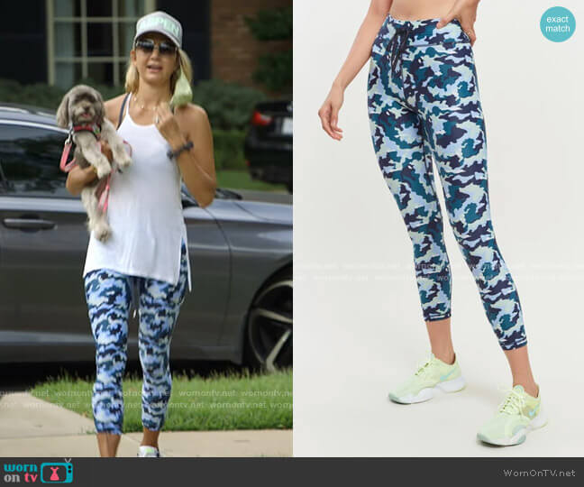 Camo Midi Pant by The Upside worn by Kary Brittingham  on The Real Housewives of Dallas