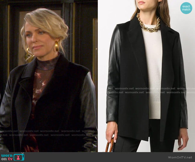 Clairene Jacket by Theory worn by Nicole Walker (Arianne Zucker) on Days of our Lives