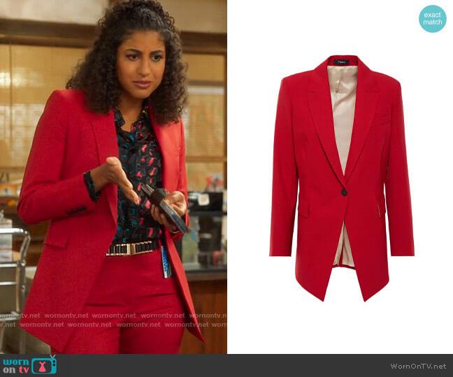 Theory Etiennette B Blazer worn by Mikaela Shaw (Vella Lovell) on Mr Mayor