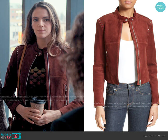 Theory Bavewick Jacket worn by Delia Whitelaw (Tory Trowbridge) on Tiny Pretty Things