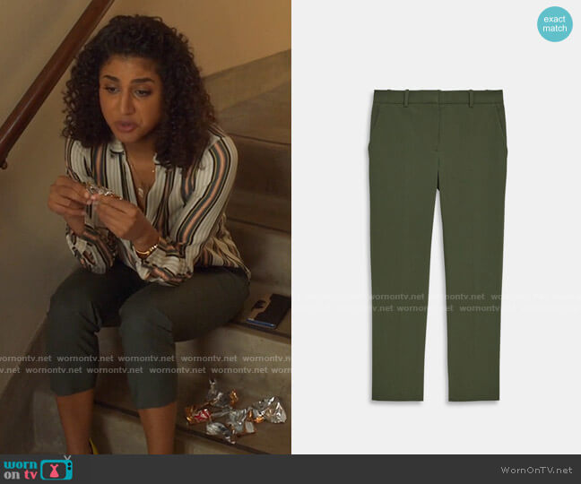 Theory Treeca Pants worn by Mikaela Shaw (Vella Lovell) on Mr Mayor