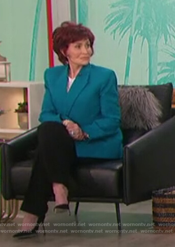 Sharon's turquoise blazer on The Talk