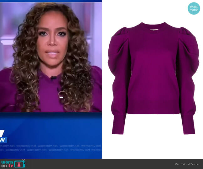 Puff Sleeve Jumper by Ulla Johnson worn by Sunny Hostin  on The View