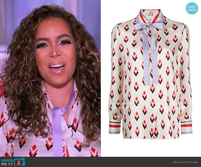 Pussy-bow Blouse by Valentino worn by Sunny Hostin  on The View