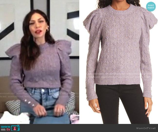 Novah Puff Sleeve Sweater by Veronica Beard worn by Melissa Garcia on Today
