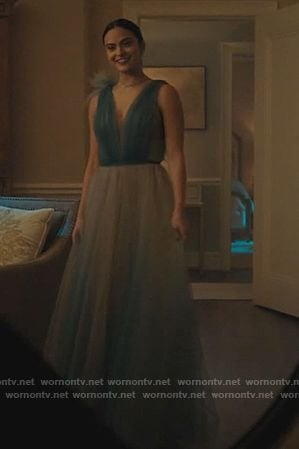 Veronica's blue ombre tulle dress on Riverdale