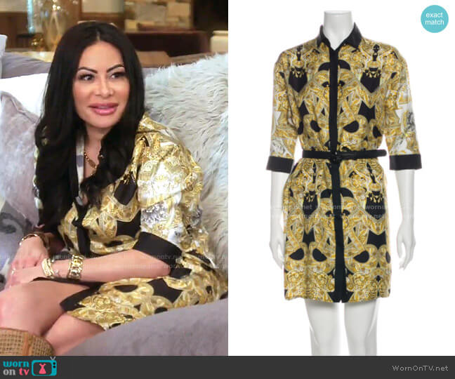 Print Mini Dress by Versace worn by Jen Shah  on The Real Housewives of Salt Lake City