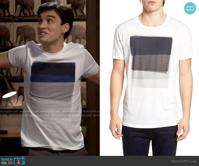 Vestige Sunken Graphic T-Shirt worn by Freddie Raine (Joey Bragg) on Call Your Mother