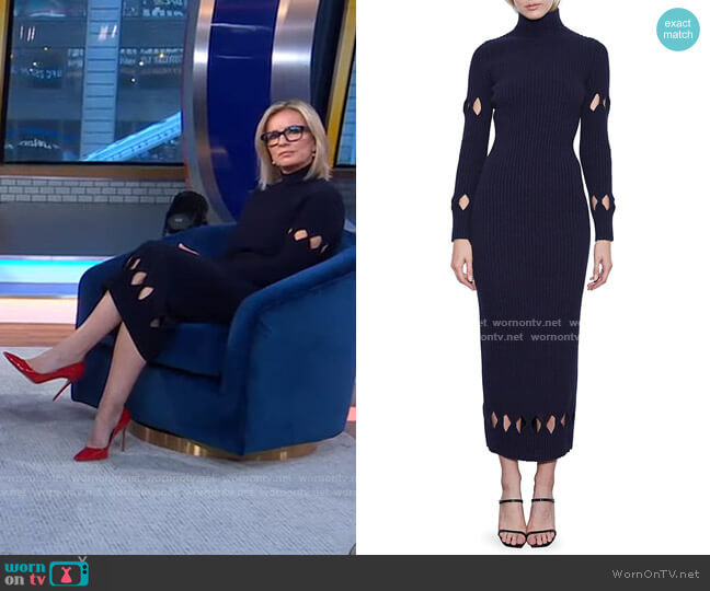 Cutout Ribbed Wool-Blend Maxi Sweaterdress by Victoria Beckham worn by Dr. Jennifer Ashton  on Good Morning America