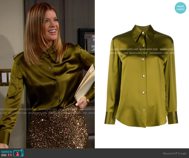 Vince Shaped Collar Blouse worn by Phyllis Summers (Michelle Stafford) on The Young & the Restless