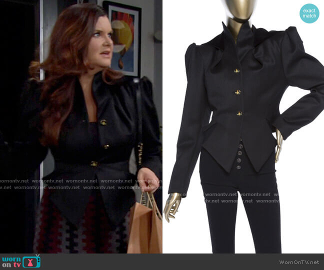 Vivienne Westwood Victorian Jacket worn by Katie Logan (Heather Tom) on The Bold & the Beautiful