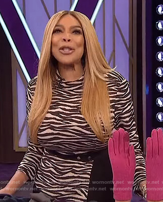 Wendy's zebra stripe dress on The Wendy Williams Show