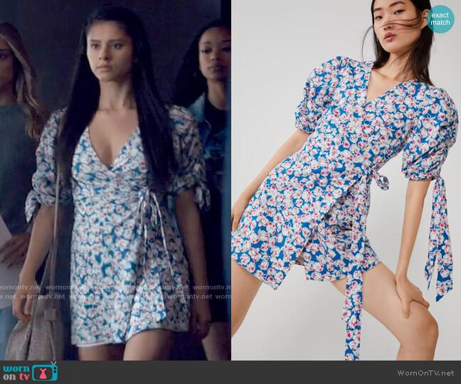 Zara Printed Poplin Dress worn by June Park (Daniela Norman) on Tiny Pretty Things