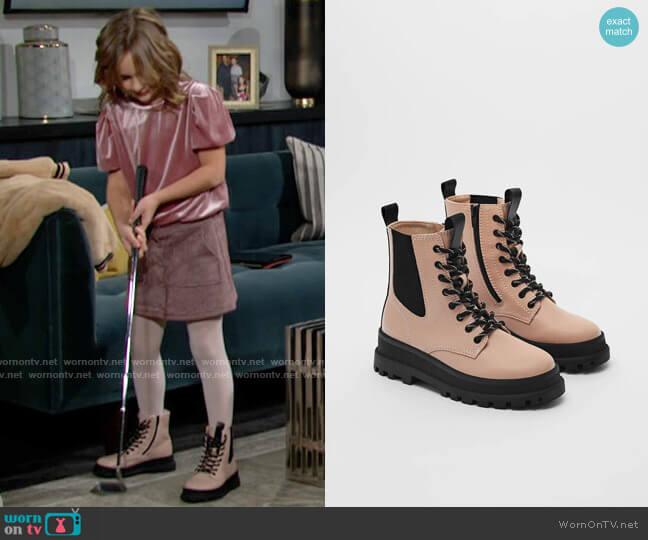 Zara Lug Sole Ankle Boots