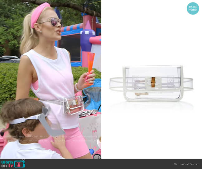 Leather-Trimmed PVC Belt Bag by Zimmermann worn by Kameron Westcott  on The Real Housewives of Dallas