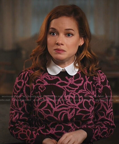 Maggie's embroidered jacket on Zoeys Extraordinary Playlist