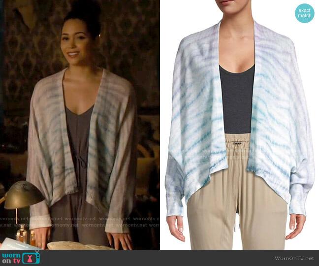 360 Cashmere Striped Cashmere Cardigan worn by Macy Vaughn (Madeleine Mantock) on Charmed