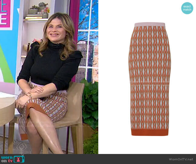 Geena Skirt by Aknvas worn by Jenna Bush Hager  on Today
