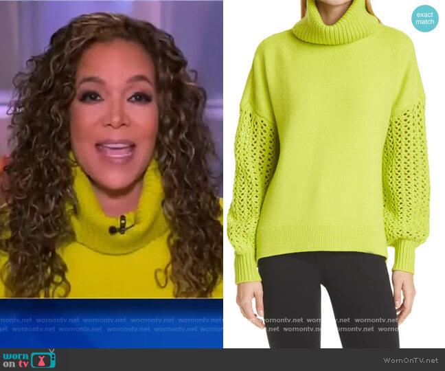 Adela Round-Hem Turtleneck Sweater by Alice + Olivia worn by Sunny Hostin  on The View