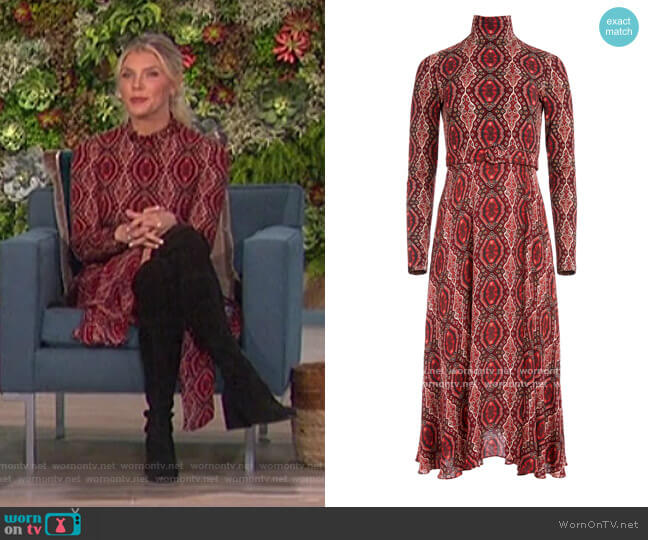 Clare Turtleneck Midi Dress by Alice + Olivia worn by Amanda Kloots  on The Talk
