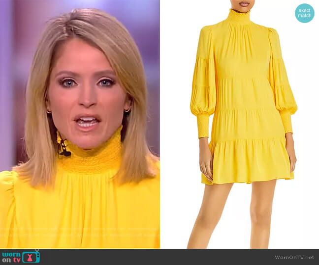 Karena Smocked Babydoll Dressby Alice + Olivia worn by Sara Haines  on The View