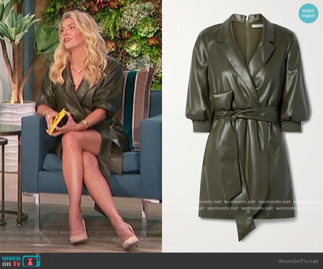 Maureen Vegan Leather Mini Dress worn by Amanda Kloots  on The Talk
