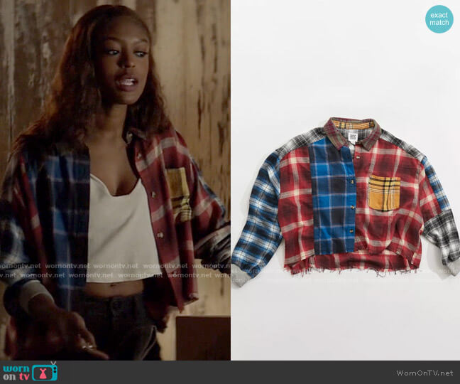 Urban Outfitters BDG Rayne Patchwork Flannel Shirt worn by Ryan Wilder (Javicia Leslie) on Batwoman