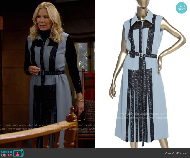 Bottega Veneta Sleeveless Lace Dress worn by Brooke Logan (Katherine Kelly Lang) on The Bold & the Beautiful