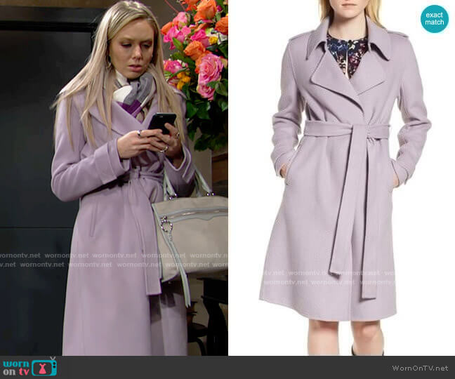 Badgley Mischka Chloe Coat worn by Abby Newman (Melissa Ordway) on The Young & the Restless