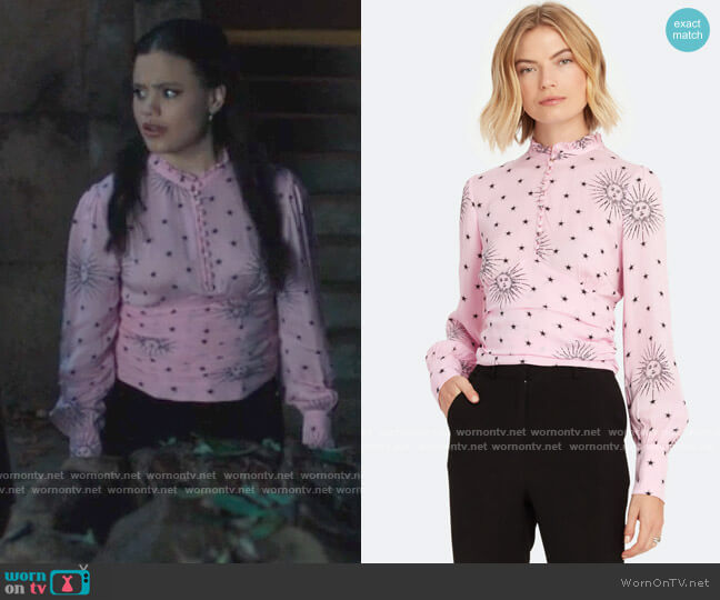 Birgitte Herskind Sloane Blouse worn by Maggie Vera (Sarah Jeffery) on Charmed