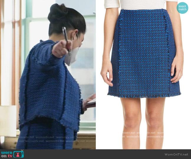 Vomanda Tweed Suit Skirt by BOSS worn by Sherri Kansky (Ruthie Ann Miles) on All Rise