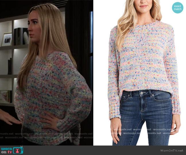 Rainbow Marled-Knit Sweater jby Cece worn by Josslyn Jacks (Eden McCoy) on General Hospital