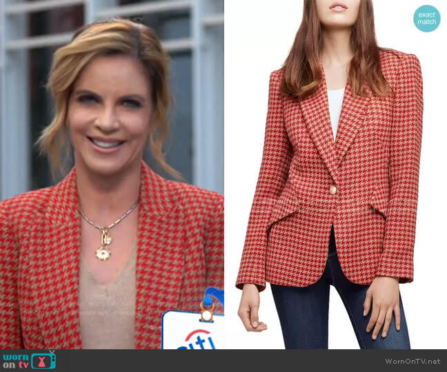 Chamberlain Houndstooth Blazer by L'Agence worn by Natalie Morales  on Today