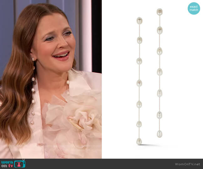 Pearl Bocconcinis by Chefanie worn by Drew Barrymore  on The Drew Barrymore Show