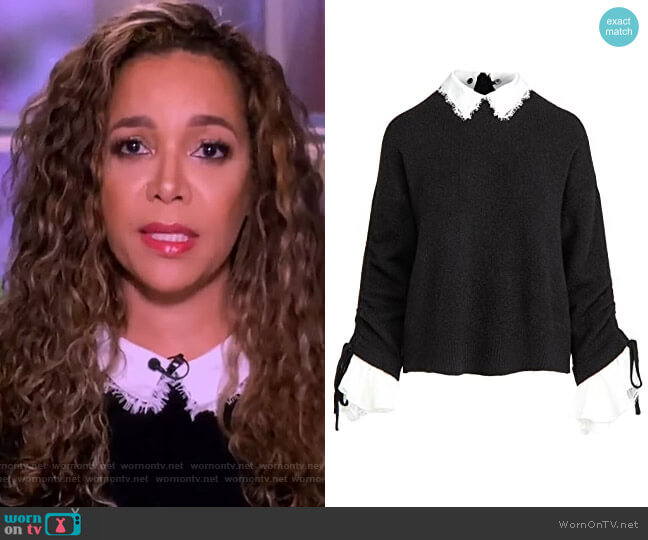 Collar Atlas Pullover by Cinq a Sept worn by Sunny Hostin  on The View