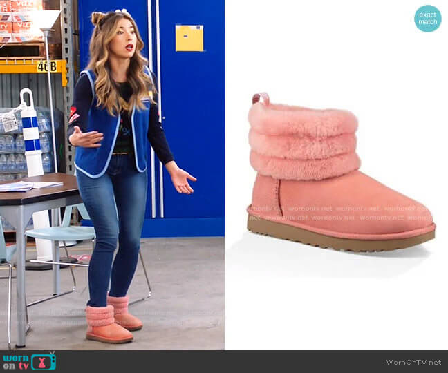 Fluff Mini Quilted Boot by Ugg worn by Cheyenne (Nichole Bloom) on Superstore