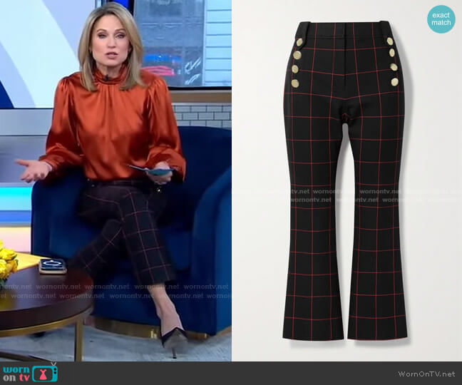 Robertson cropped Pants by Derek Lam 10 Crosby worn by Amy Robach  on Good Morning America