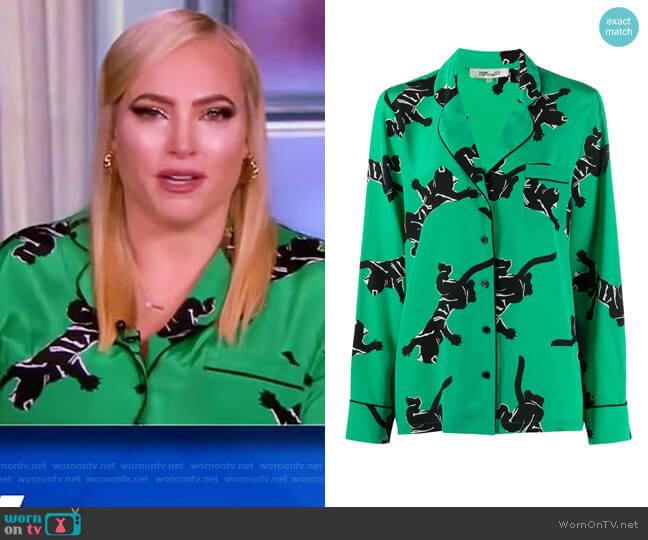 Graphic Print Silk Shirt by Diane Von Furstenberg worn by Meghan McCain  on The View
