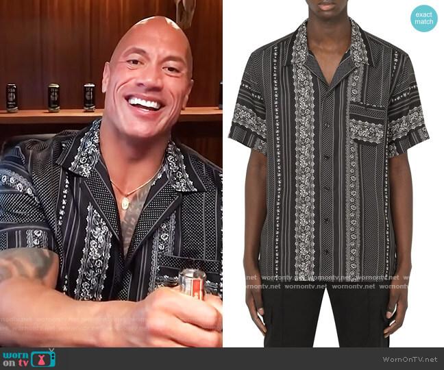 Geometric Print Silk Bowling Shirt by Dolce & Gabbana