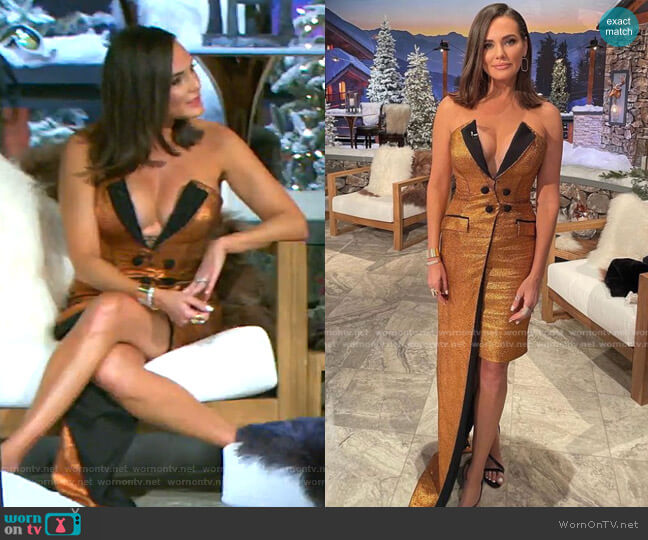 Custom Dress by Fadwa Baalbaki worn by Meredith Marks  on The Real Housewives of Salt Lake City