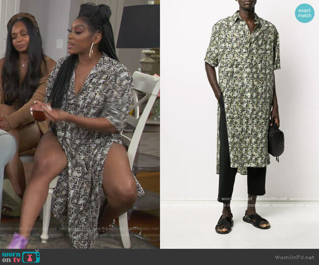 Super Oversized Logo Shirt by Fendi worn by Porsha Williams  on The Real Housewives of Atlanta