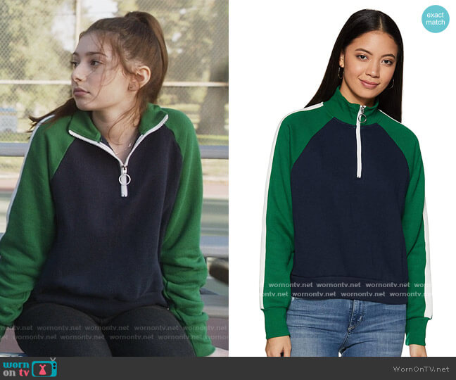 Synthetic Sweatshirt by Forever 21 worn by Natalie (Makenzie Moss) on The Unicorn
