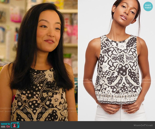 Bare It All Tank by Free People worn by Janet (Andrea Bang) on Kims Convenience