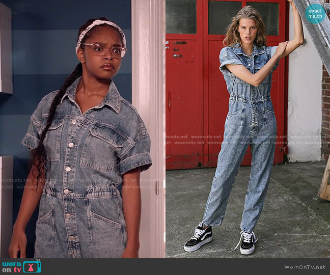 Marci Coverall by Free People worn by Diane Johnson (Marsai Martin) on Blackish