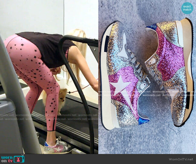 Running Sole Sneakers by Golden Goose worn by Kameron Westcott  on The Real Housewives of Dallas