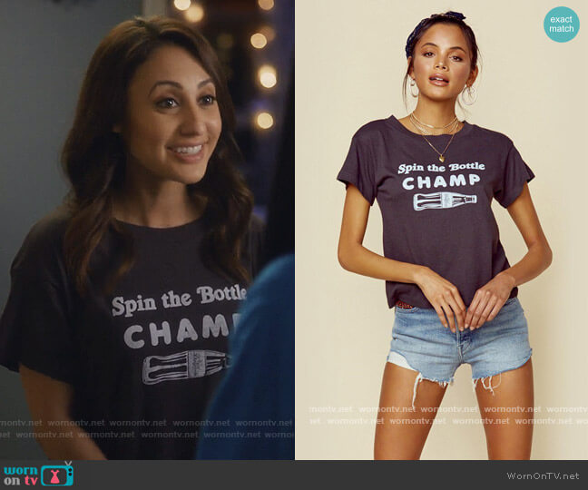 Spin the Bottle Champ by Girl Dangerous worn by Ana Torres (Francia Raisa) on Grown-ish
