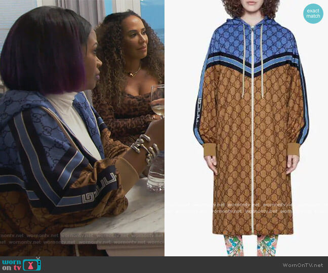 GG technical jersey jacket by Gucci worn by Kandi Burruss  on The Real Housewives of Atlanta