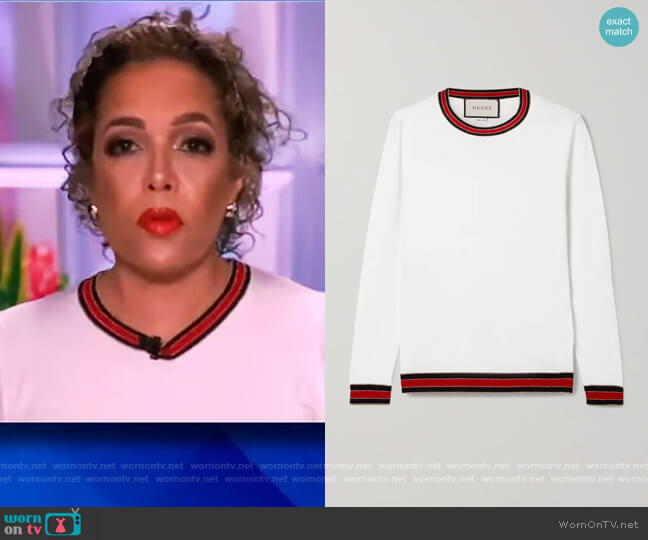 Striped wool sweater by Gucci worn by Sunny Hostin  on The View