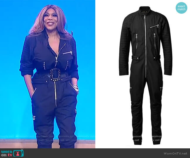 Jumpsuit by Balmain x H&M  worn by Wendy Williams  on The Wendy Williams Show